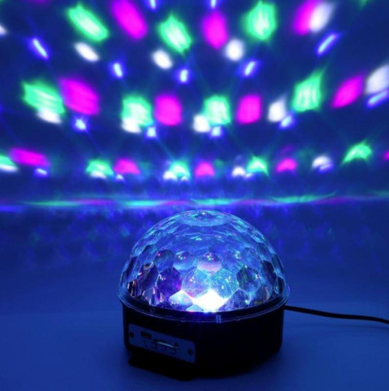 Музыкальный диско-шар с Bluetooth, USB, светомузыкой, 2-я динамик - Фото 5