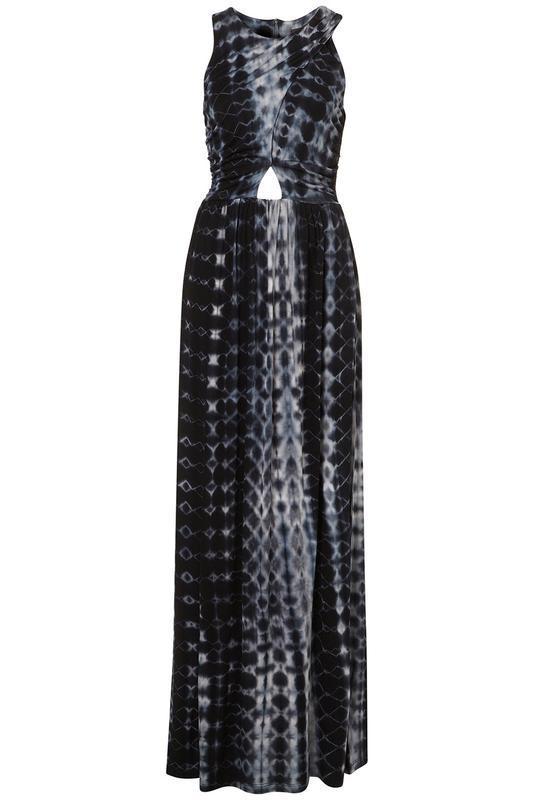 Стильное сине-черно-серое платье сукня макси длинное topshop u...
