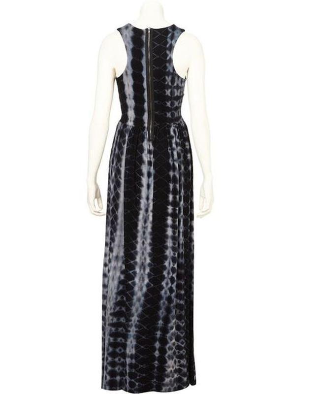 Стильное сине-черно-серое платье сукня макси длинное topshop u... - Фото 2