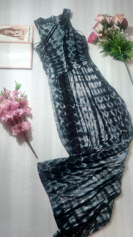 Стильное сине-черно-серое платье сукня макси длинное topshop u... - Фото 4