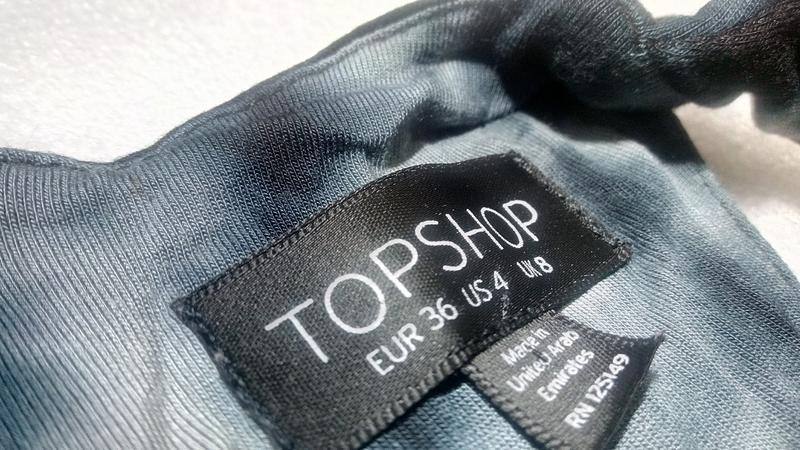 Стильное сине-черно-серое платье сукня макси длинное topshop u... - Фото 6