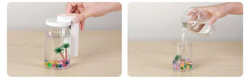 Увлажнитель воздуха и ночник (2в1) прозрачная чашка украшение - Фото 4