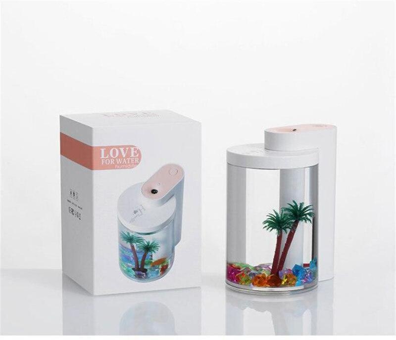 Увлажнитель воздуха и ночник (2в1) прозрачная чашка украшение - Фото 6