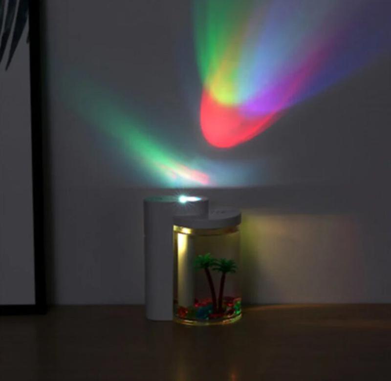 Увлажнитель воздуха и ночник (2в1) прозрачная чашка украшение - Фото 7