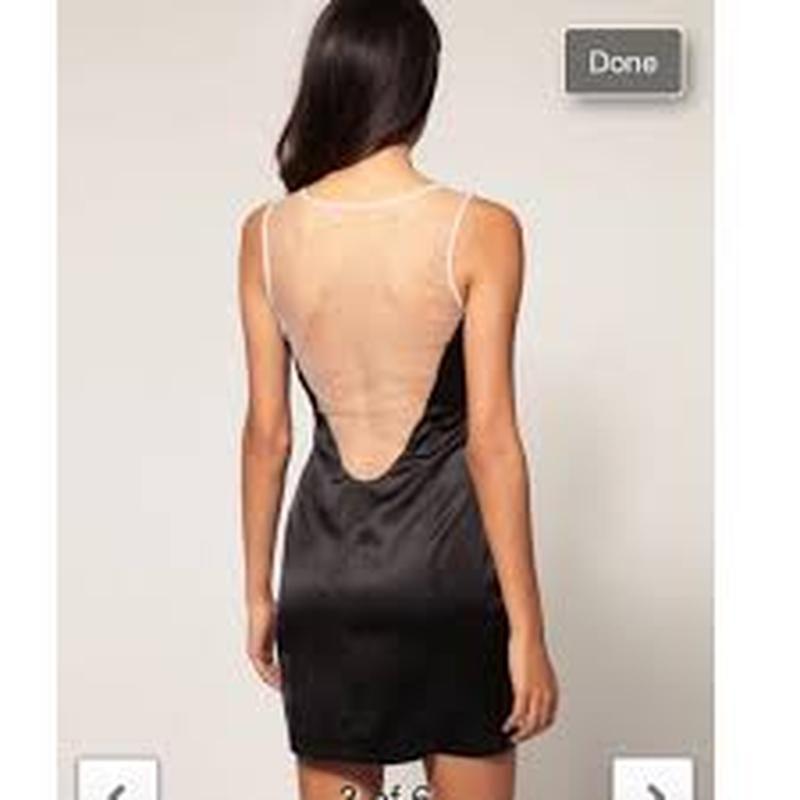 Крутое черное сексуальное коктейльное нарядное платье сукня ми... - Фото 3