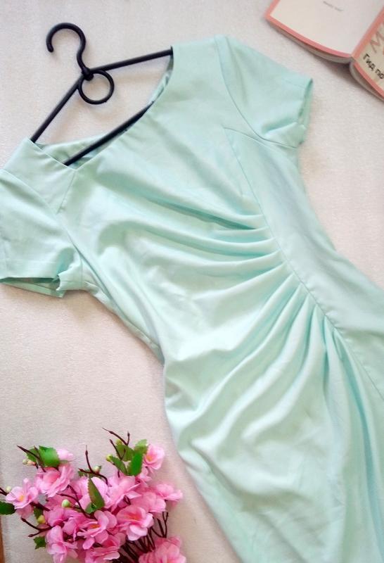 Нежное мятное миди платье сукня карандаш размер s от fever london