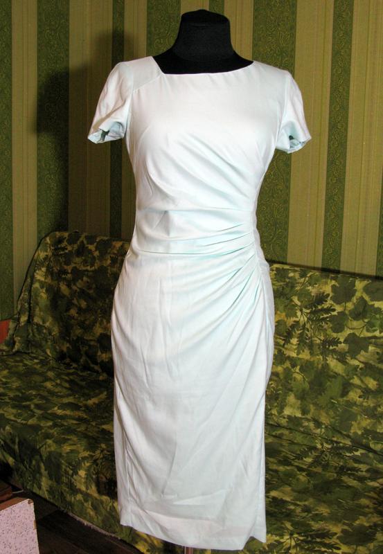 Нежное мятное миди платье сукня карандаш размер s от fever london - Фото 8