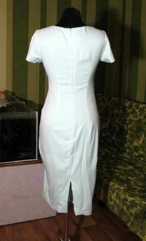 Нежное мятное миди платье сукня карандаш размер s от fever london - Фото 9