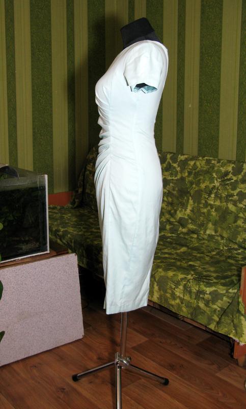 Нежное мятное миди платье сукня карандаш размер s от fever london - Фото 10