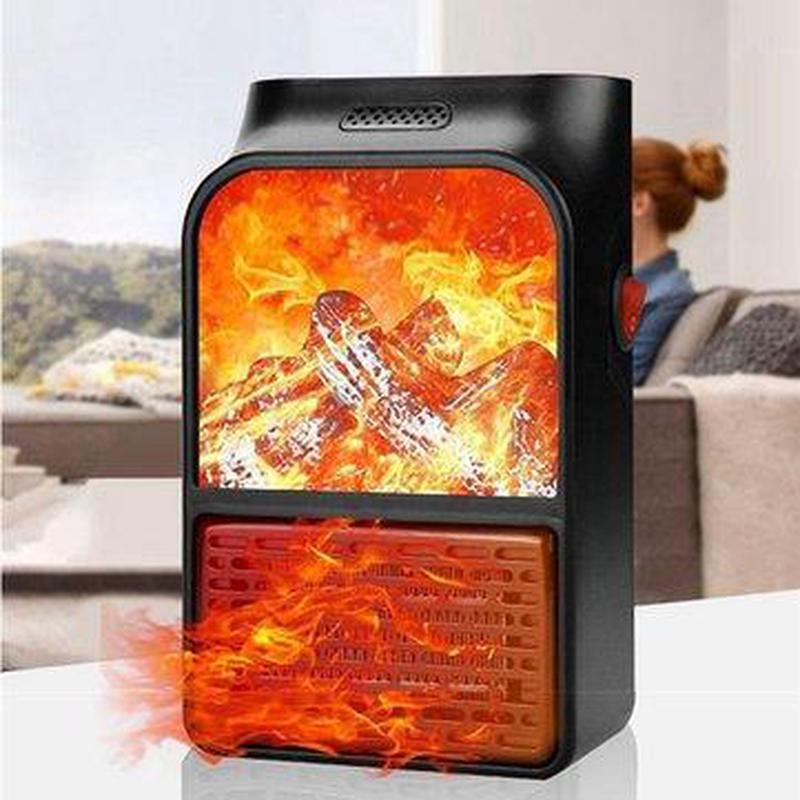 Портативный обогреватель с пультом Flame Heater (1000 Вт) - Фото 2