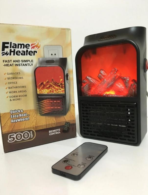 Портативный обогреватель с пультом Flame Heater (1000 Вт) - Фото 6