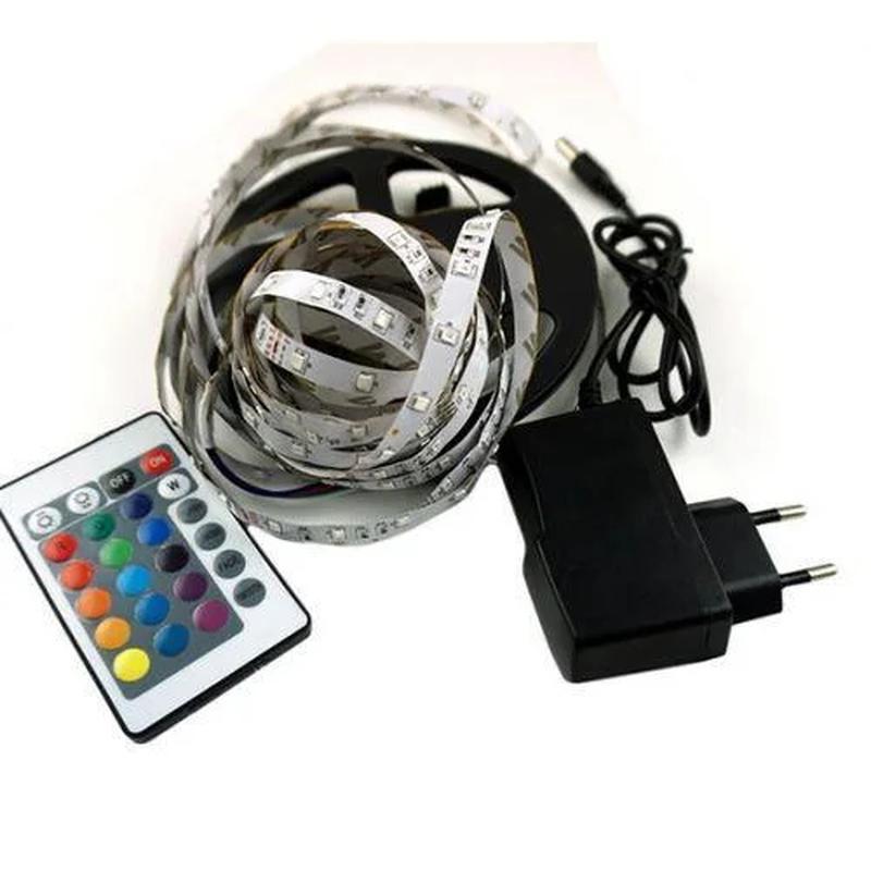 Светодиодная лента SMD 3528 RGB LED 5 м с пультом блоком питания - Фото 3