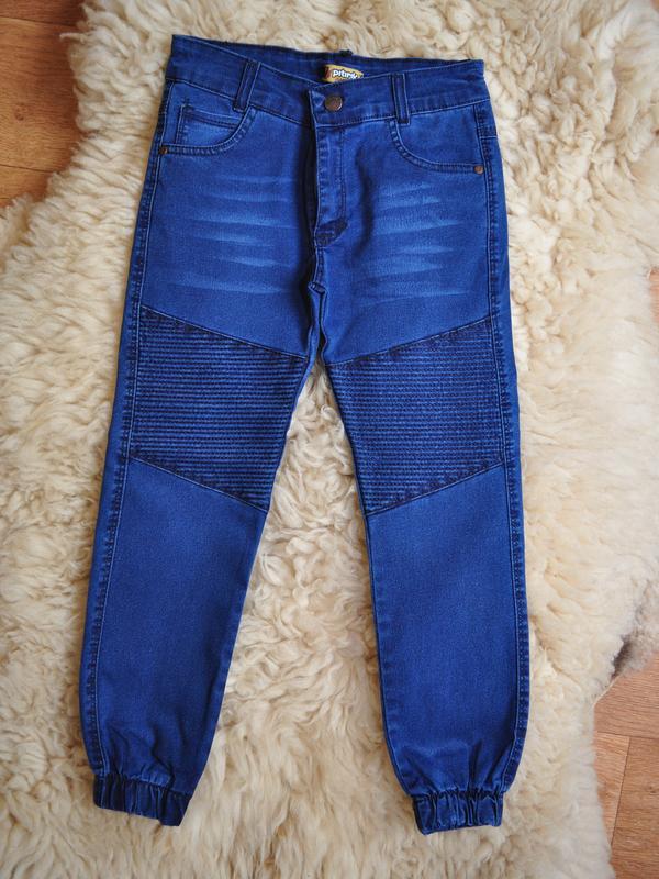 Модные джинсы для мальчика, на манжетах, от 6 до 12 лет