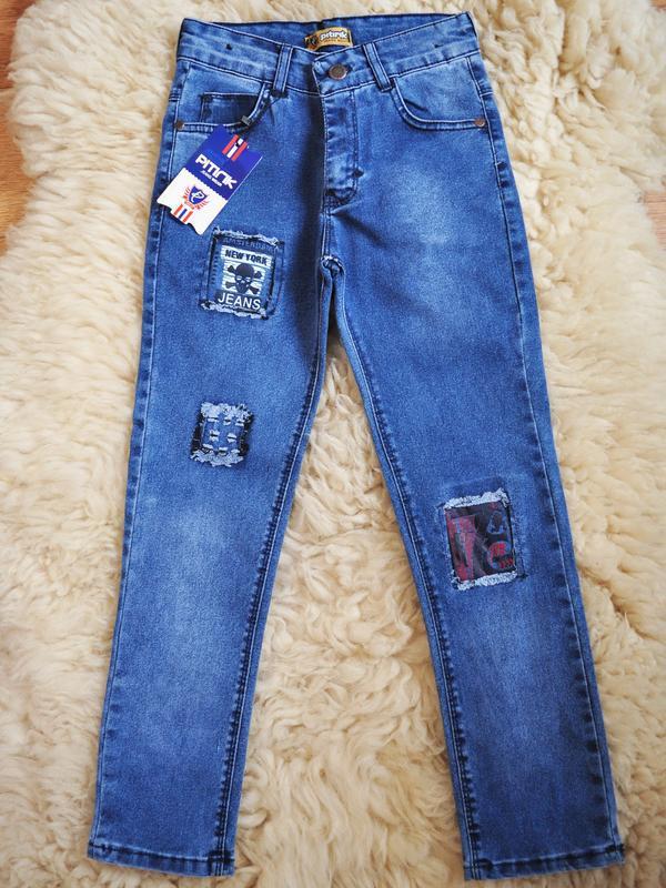 Модные джинсы для мальчика, хит, турция, от 6 до 12 лет