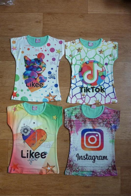 Хит! классные футболки tik tok, likee, instagram, от 4-5 до 8-...