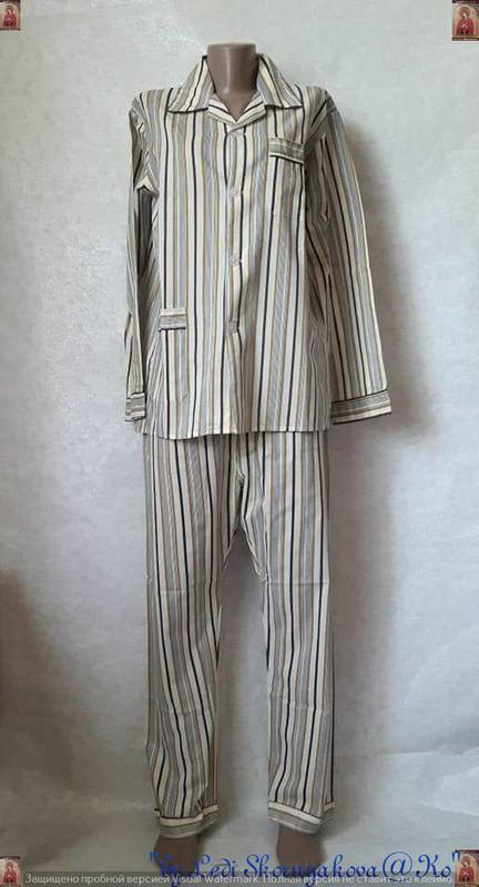 Новая со 100 % натурального хлопка пижама в мелкие полосочки, ...
