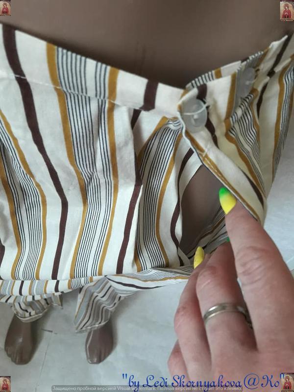 Новая со 100 % натурального хлопка пижама в мелкие полосочки, ... - Фото 5