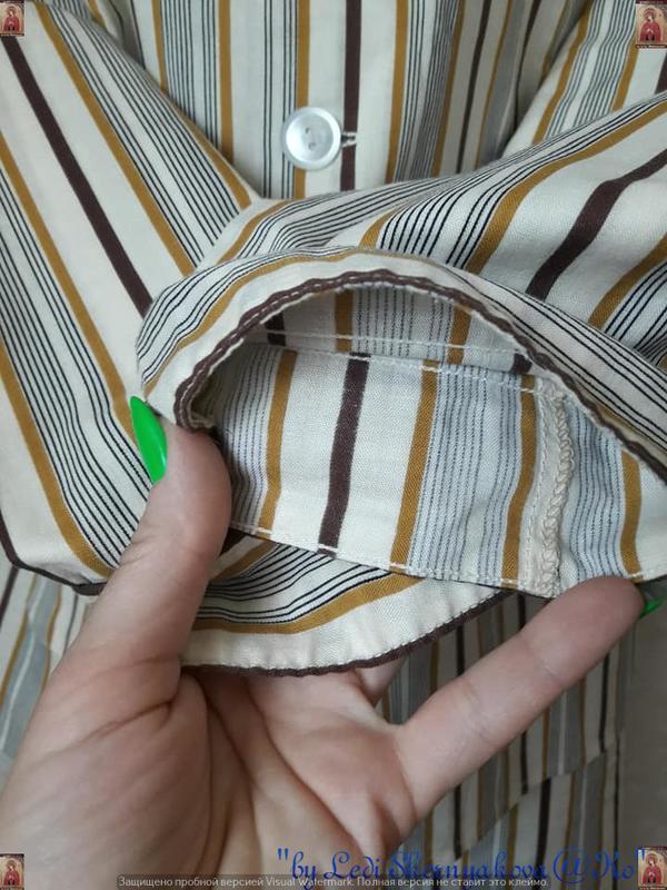 Новая со 100 % натурального хлопка пижама в мелкие полосочки, ... - Фото 6