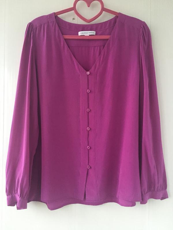 Роскошная шелковая блузка, сочный малиновый цвет, fenn wright ...