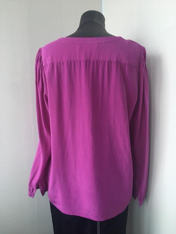 Роскошная шелковая блузка, сочный малиновый цвет, fenn wright ... - Фото 4