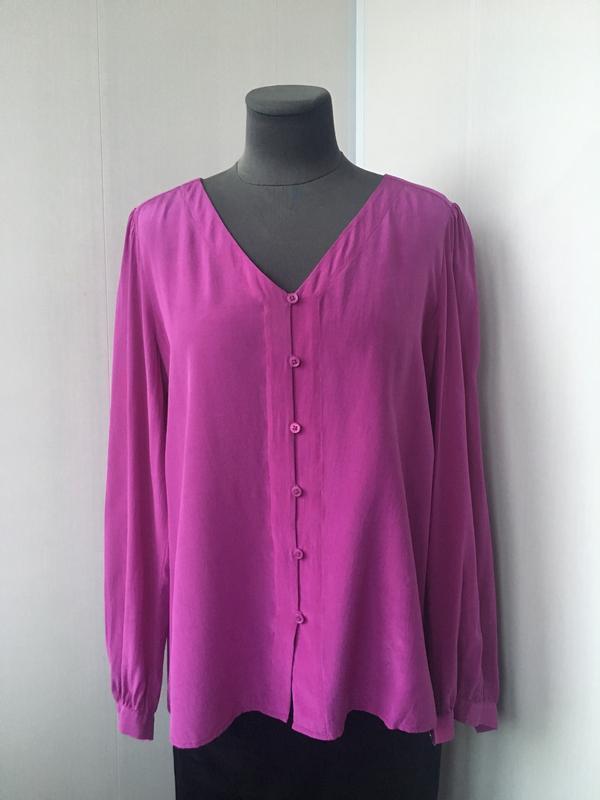 Роскошная шелковая блузка, сочный малиновый цвет, fenn wright ... - Фото 5