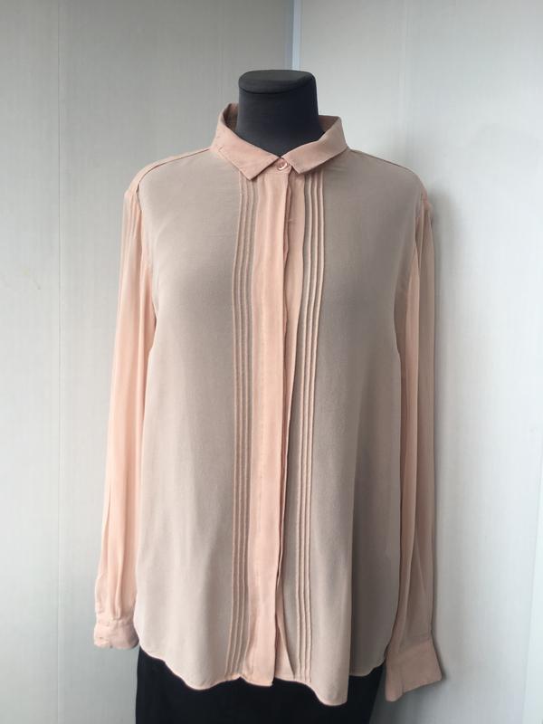 Благородная шелковая блузка блуза рубаха, натуральный шелк, цв... - Фото 6