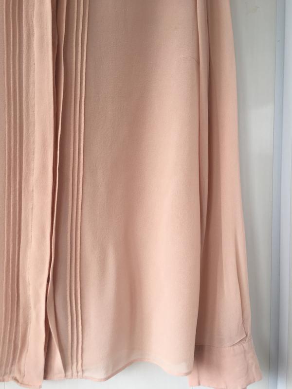 Благородная шелковая блузка блуза рубаха, натуральный шелк, цв... - Фото 8