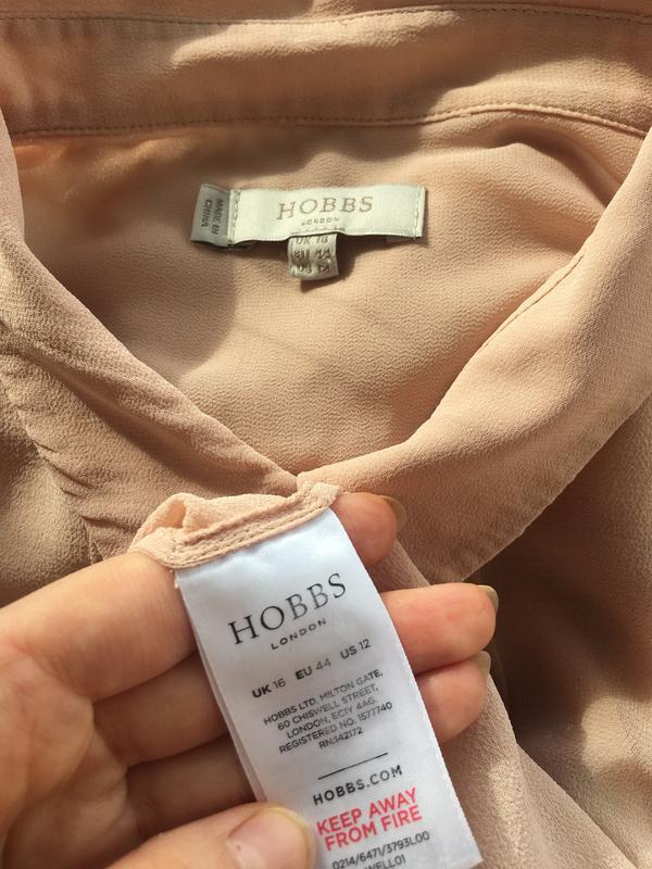 Благородная шелковая блузка блуза рубаха, натуральный шелк, цв... - Фото 9