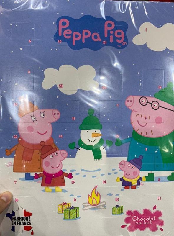 Peppa Pig шоколадный календарь