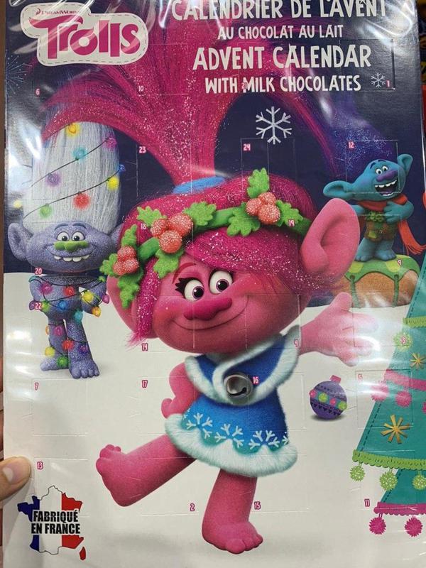 Trolls. Шоколадный календарь