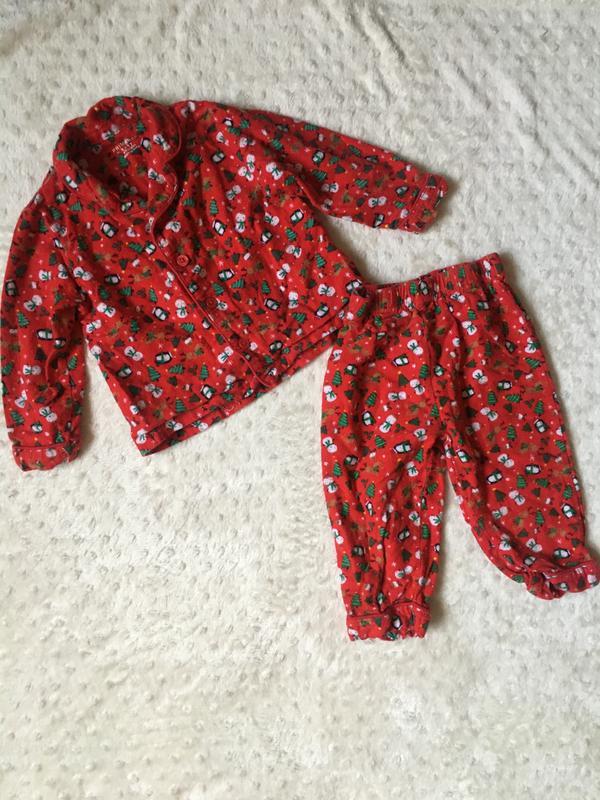 Новогодняя пижама на новый год,баевая пижама на байке,мягенька... - Фото 7