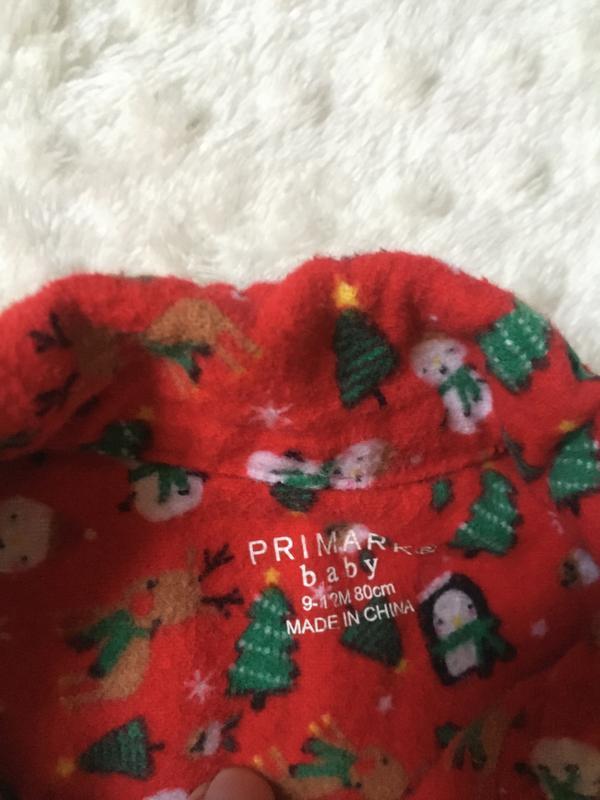 Новогодняя пижама на новый год,баевая пижама на байке,мягенька... - Фото 6