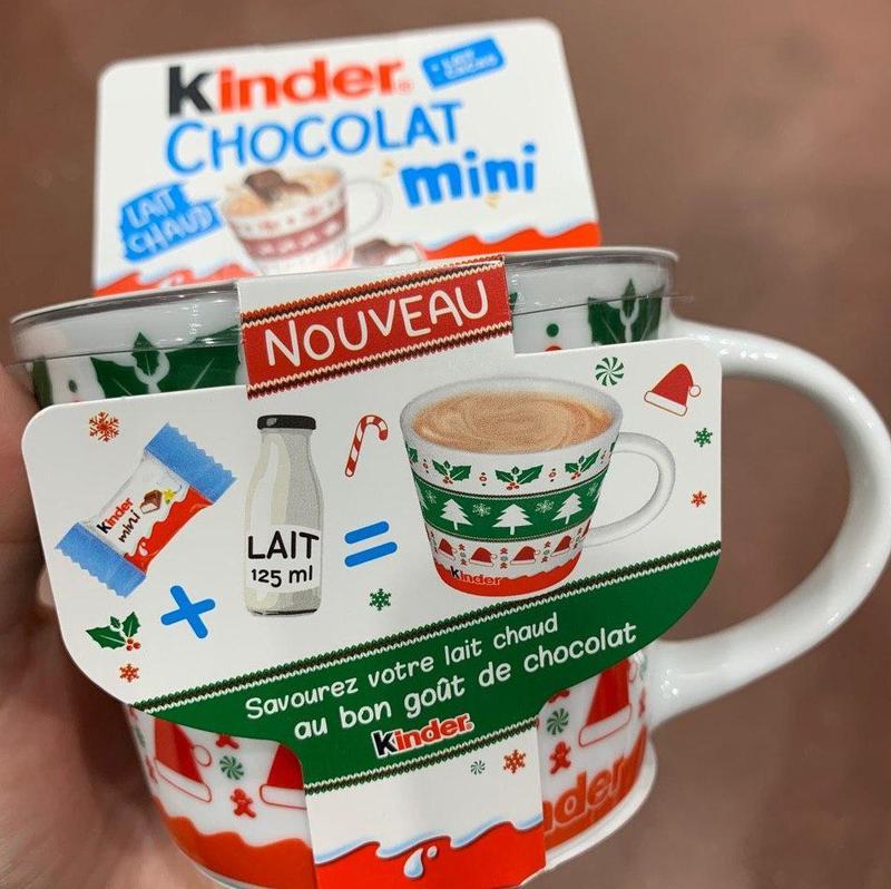 Kinder Chocolate Mini с новогодней чашкой