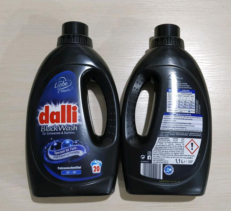 Dalli гель для прання чорних речей.
