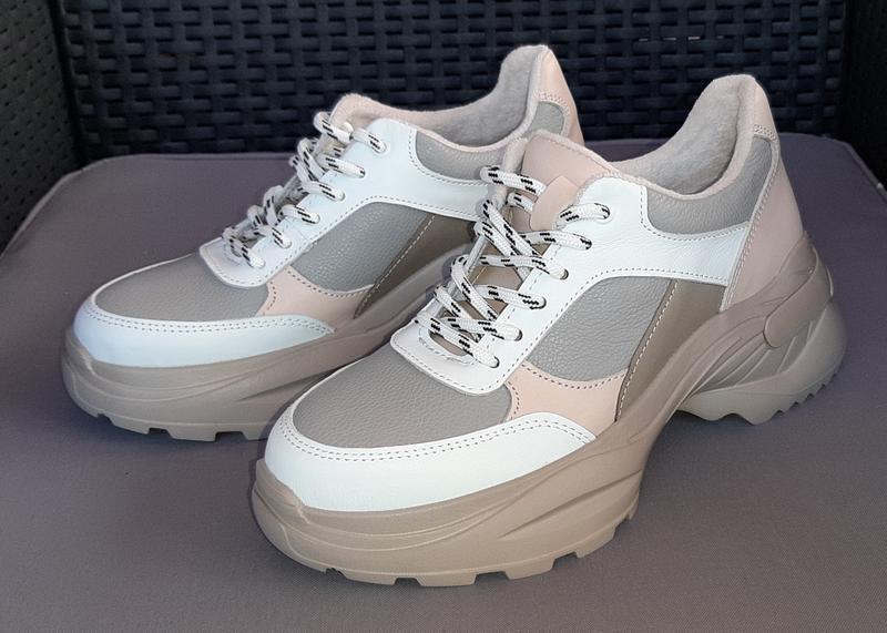 Кроссовки (ботинки) кожаные утепленные байкой женские ™torsion