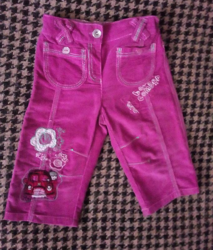 Стильные вельветовые брюки next на девочку на 1-1.5 года, рост...
