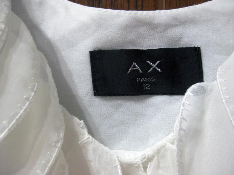 Платье ax paris туника белое декор лепестки - Фото 4