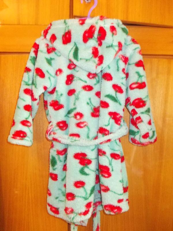 Халат детский махровый вишенка на 5-7 лет - Фото 4