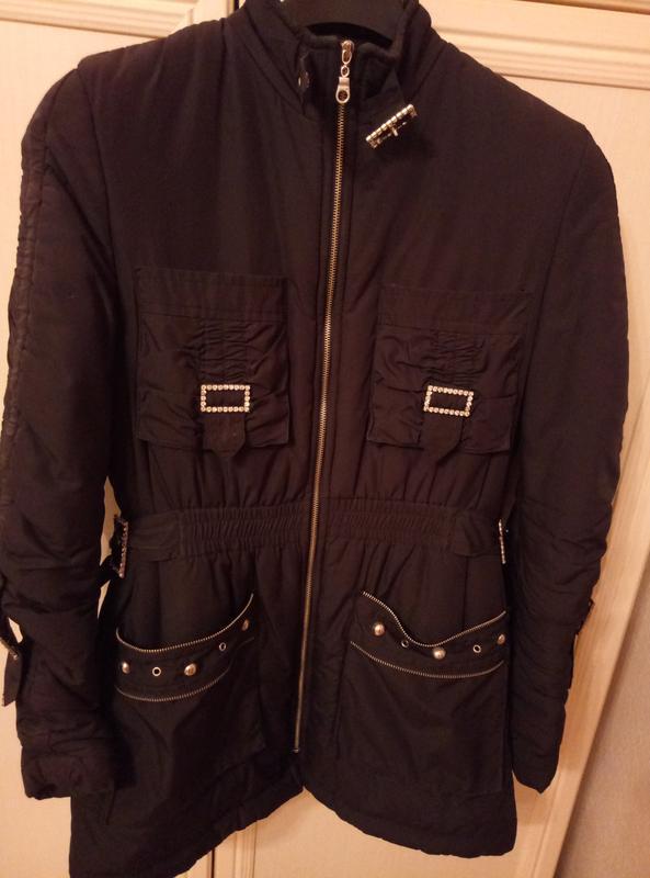 Куртка черная женская весна осень - Фото 2