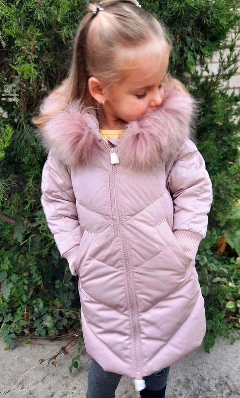 Шикарная пуховая удлиненная куртка