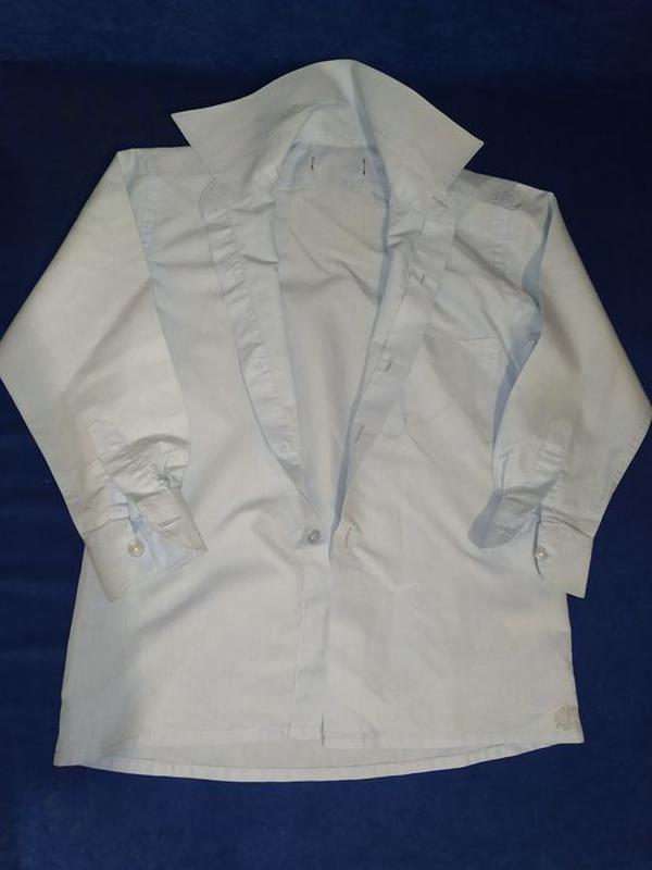 Голубая рубашка / рубашка / рубашка 10 лет / рубашка для мальч...