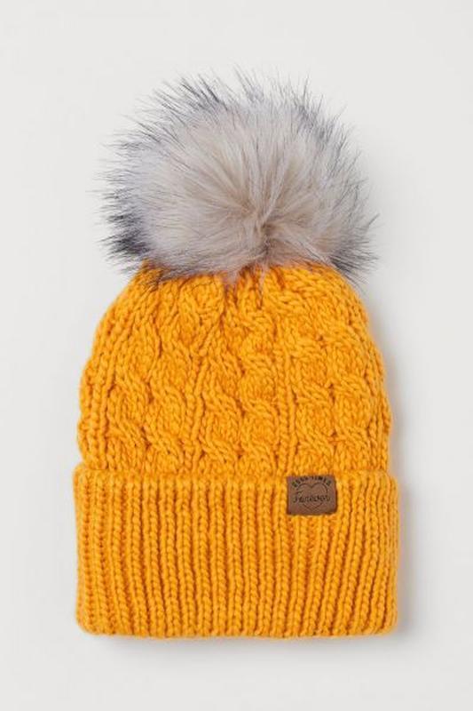 Теплая шапка для девочки h&m