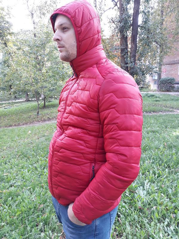 Стеганая мужская демисезонная куртка весна осень - Фото 3