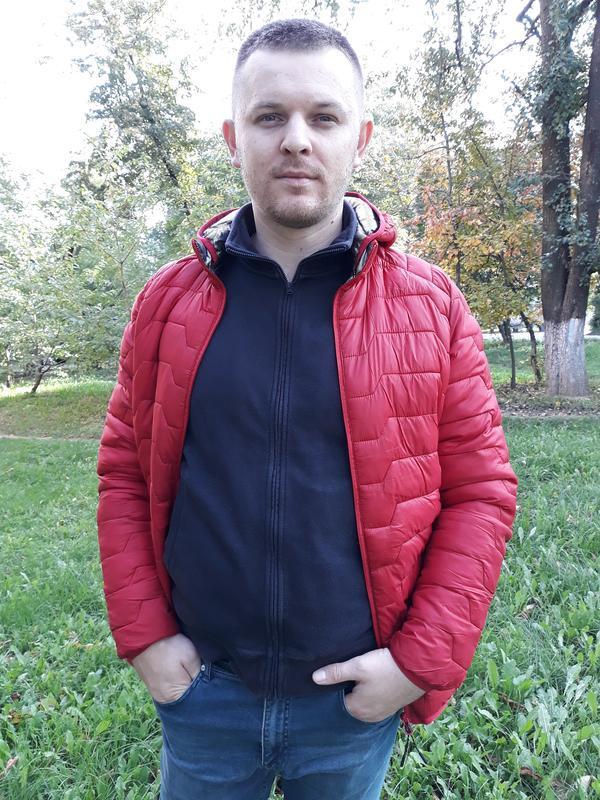 Стеганая мужская демисезонная куртка весна осень - Фото 7