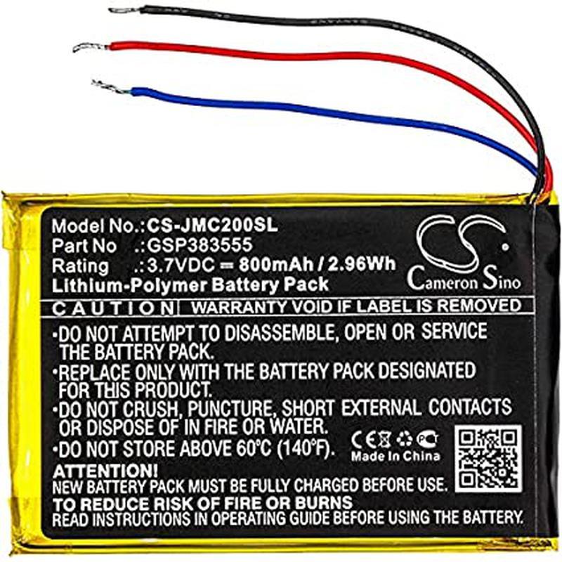 Аккумулятор для JBL Clip 2, GSP383555, 800 mAh - Фото 2