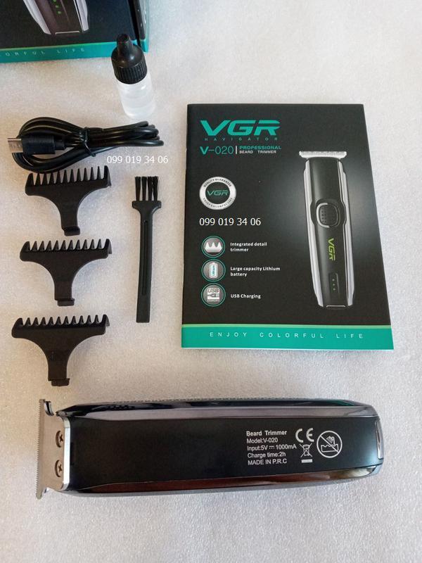 Мужской триммер Машинка для стрижки VGR V-020 - Фото 4