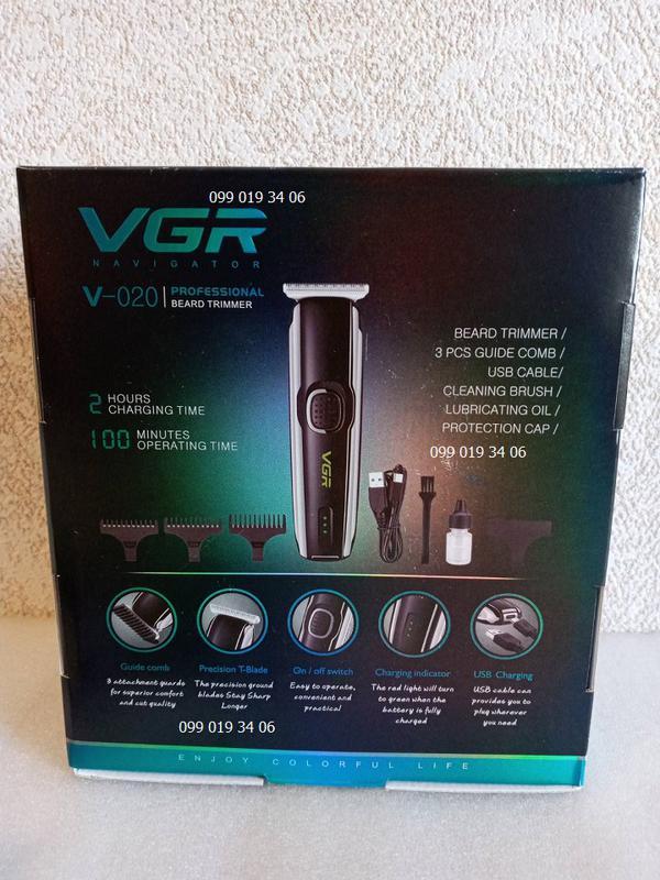 Мужской триммер Машинка для стрижки VGR V-020 - Фото 9