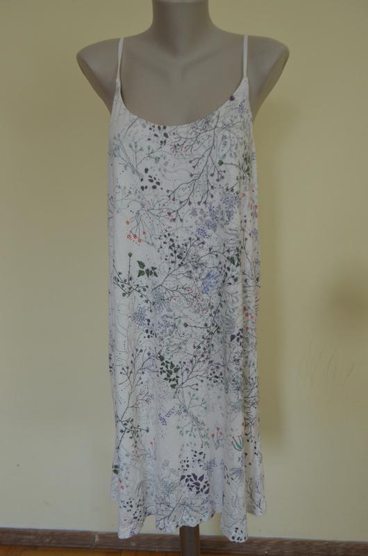 Стильное брендовое трикотажное платье в бельевом стиле свободн... - Фото 2