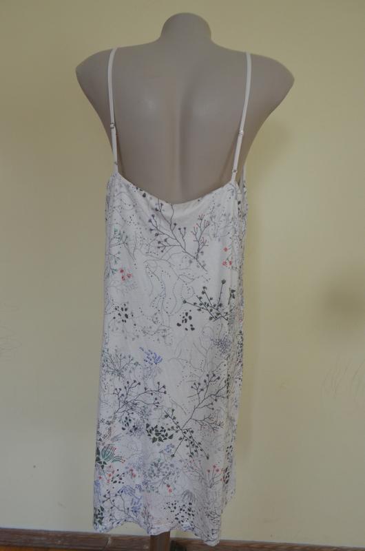 Стильное брендовое трикотажное платье в бельевом стиле свободн... - Фото 6