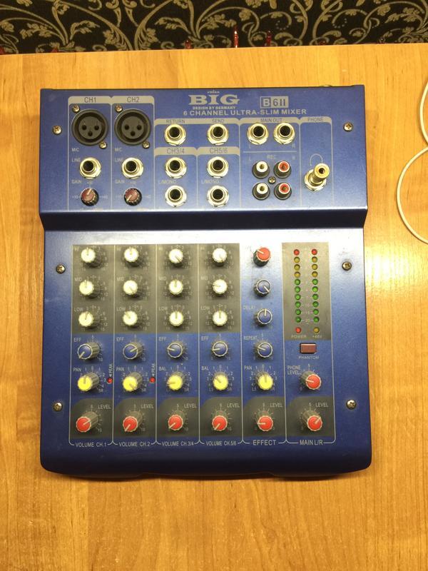 Микшер BIG B6 II 6 Ultra-Slim